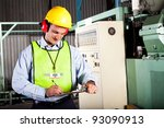 male occupational health and... | Shutterstock . vector #93090913