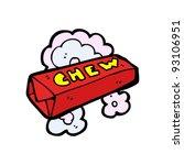 candy chew cartoon | Shutterstock .eps vector #93106951