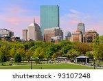 back bay from boston common   Shutterstock . vector #93107248