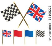 union jack flag and winners... | Shutterstock .eps vector #93108223