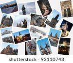 stack of pictures with... | Shutterstock . vector #93110743