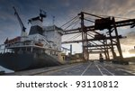 container port terminal ... | Shutterstock . vector #93110812