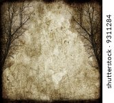 grunge trees on the vintage...   Shutterstock . vector #9311284