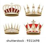 vectorized crown | Shutterstock .eps vector #9311698