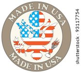 made in usa symbol | Shutterstock .eps vector #93117754