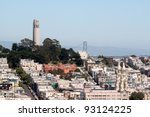 coit tower viewed from lombard... | Shutterstock . vector #93124225