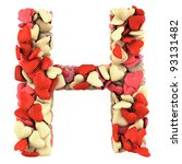 Letter H  Made From Soft...