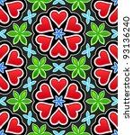 hearts seamless pattern | Shutterstock .eps vector #93136240