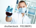 young scientist in white... | Shutterstock . vector #93138091