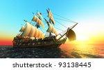 sailing boat | Shutterstock . vector #93138445