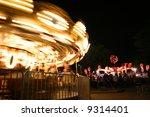 Motion Blur Of Amusement Park...