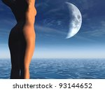 Women And Moon
