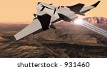 EOS Mars Program Shuttle Orbiter - stock photo