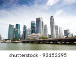 Singapore Skyline Of Financial...