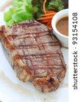 closeup steak