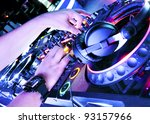 dj playing the track in the