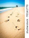 Footprint Couple Of People On...