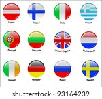european flags   part 1 | Shutterstock .eps vector #93164239