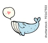 whale with speech bubble cartoon | Shutterstock .eps vector #93167503