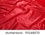 Beautiful red silk cloth is the fabrics texture - stock photo