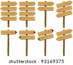 set wooden signs   set of wood... | Shutterstock . vector #93169375