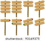 set wooden signs   set of wood...   Shutterstock . vector #93169375