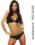 sexy brunette woman posing in... | Shutterstock . vector #93176149