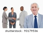 mature salesman with trading... | Shutterstock . vector #93179536