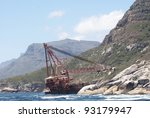 shipwreck stranded on the... | Shutterstock . vector #93179947