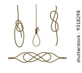 sea knots  bowline knot  timber ... | Shutterstock .eps vector #9318298