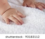 baby's hands on the towel   Shutterstock . vector #93183112