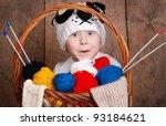 Surprised Funny Boy In Knittin...