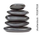 Stack Of Black Stones Balancin...