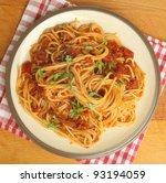 Spaghetti With Tomato Ragu.
