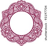 decorative frame. vintage... | Shutterstock . vector #93197704