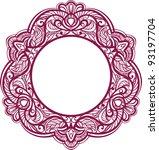 decorative frame. vintage... | Shutterstock . vector #93197704