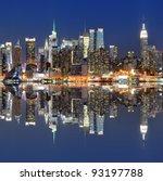 skyline of new york city from... | Shutterstock . vector #93197788