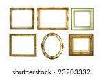 six golden picture frames... | Shutterstock . vector #93203332