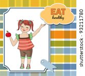 pretty young girl recommends... | Shutterstock .eps vector #93211780