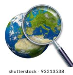 Planet Earth Focusing On Europ...