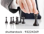business man moving chess... | Shutterstock . vector #93224269