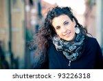 portrait of girl wearing blue... | Shutterstock . vector #93226318