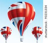 vector illustration of hot air... | Shutterstock .eps vector #93231334