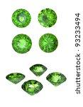 round peridot isolated on white ... | Shutterstock . vector #93233494