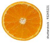 Slice Of Orange. Isolated On...