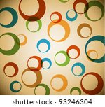 Vector grunge retro background with place for your text - stock vector