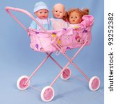 Toy Baby Buggy On Blue...