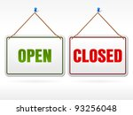 open and closed shop sign | Shutterstock .eps vector #93256048