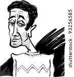 cartoon sketch caricature... | Shutterstock .eps vector #93256585