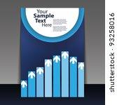 flyer design   business | Shutterstock .eps vector #93258016